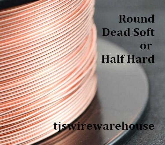 "1 Oz Coil Solid Copper /""HALF ROUND/"" Wire 12 To 18 Ga Choose Gauge /& Temper"