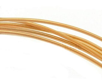 Gold Filled Wire, 14k, 10-12-14-16-18-20 gauge,  ROUND, Dead Soft, Half Hard, Length Choice, Made in USA, Jewelry Supplies