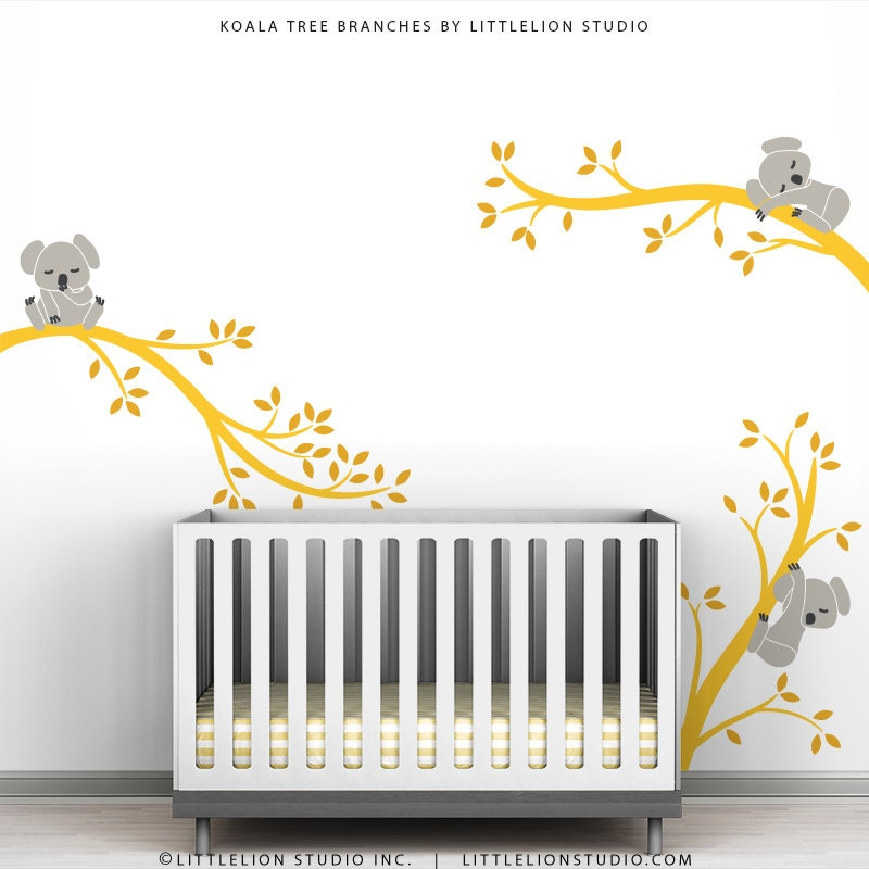 30 Cute Baby Nursery Room Decoration Design: Cute Baby Wall Decal Room Decor Baby Nursery Yellow And