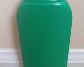 Set of 10 6 oz Green Tottle Bottle & Black Cap Set