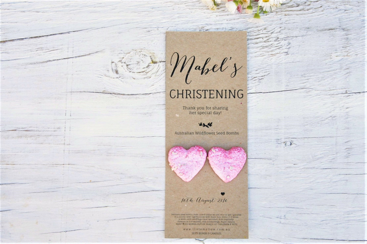 Christening Favours Australian Native Wildflower Seed Bombs