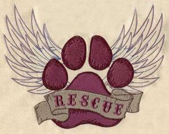 Rescue Angel Puppy Dog Print Paw Dice Bag or Pouch