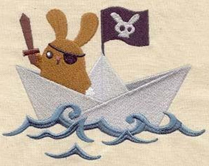 Pirate Bunny Dice Bag or Pouch