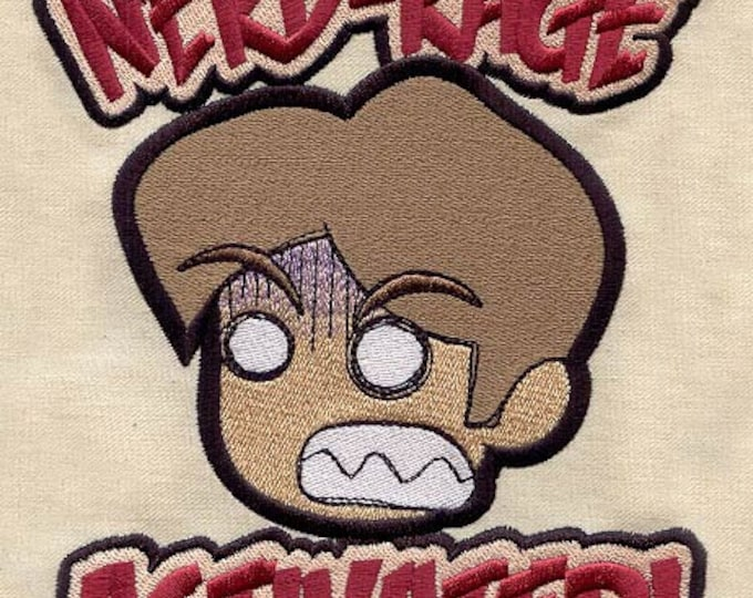 Nerd Rage Drawstring Embroidered Dice Bag or Pouch