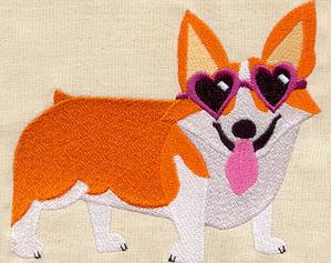 Corgi Sunglasses Heart Dog Puppy Dice Bag or Pouch
