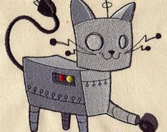 Robot Cat Dice Bag or Pouch