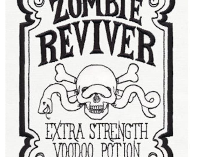 Zombie Reviver Potion Embroidered Dice Bag or Pouch