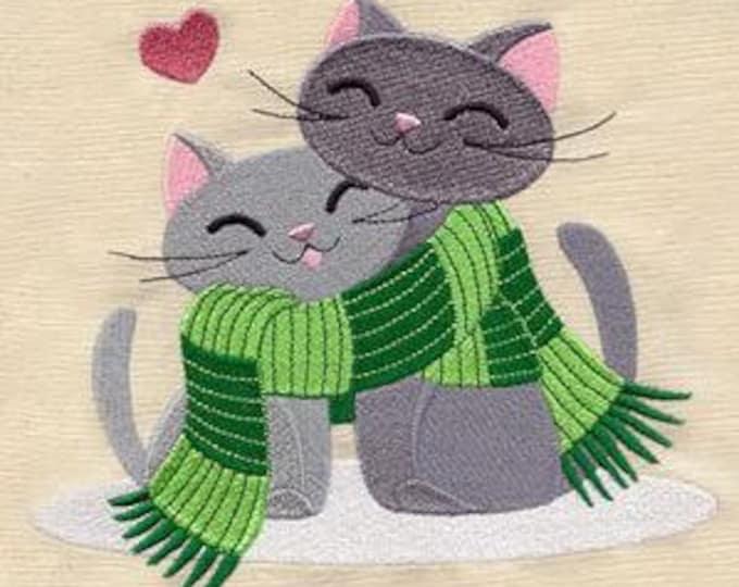 Scarf Love Knitting Crochet Yarn Cat Dice Bag or Pouch