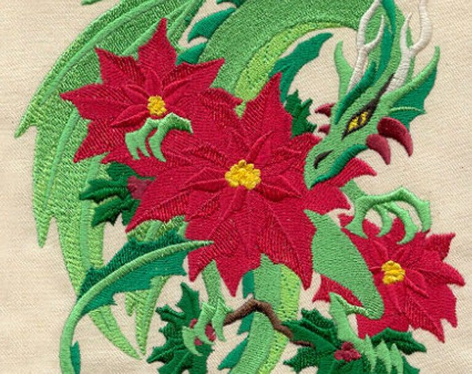 Ornate Christmas Dragon Pointsettia