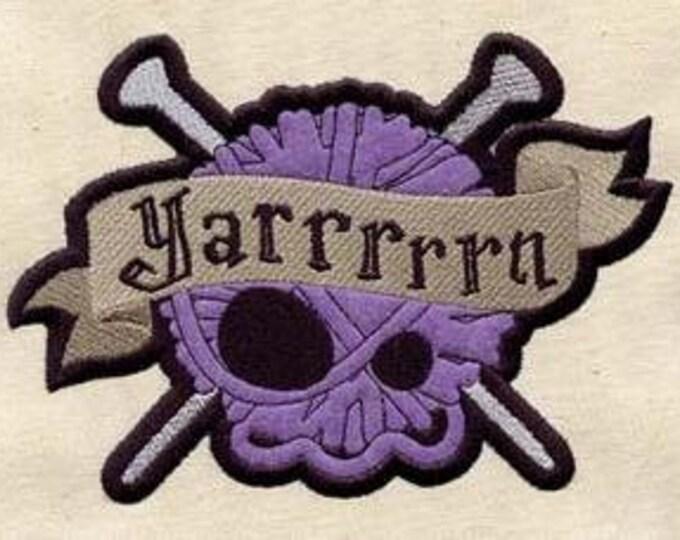 Yarrrrn Pirate Yarn Knitting Crocheting Dice Bag or Pouch