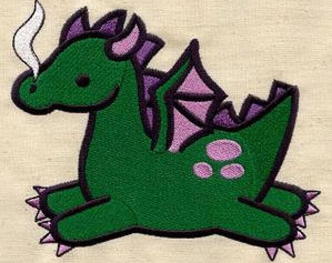 Green Dragon Cute Kawaii Mythology Dice Bag or Pouch