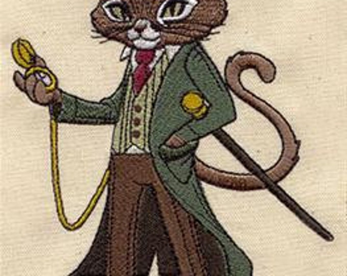 Steampunk Gentleman Cat  Dice Bag or Pouch