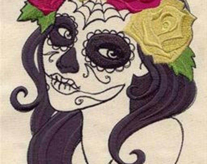 Dia de los Muertos Day of the Dead Skull Roses Dice Bag or Pouch