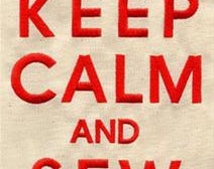 Keep Calm and Sew Stuff Sewing Dice Bag or Pouch