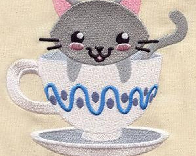 Teacup Kitten Kitty Cat  Dice Bag or Pouch