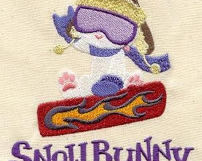 Snow Snow board Bunny Dice Bag or Pouch