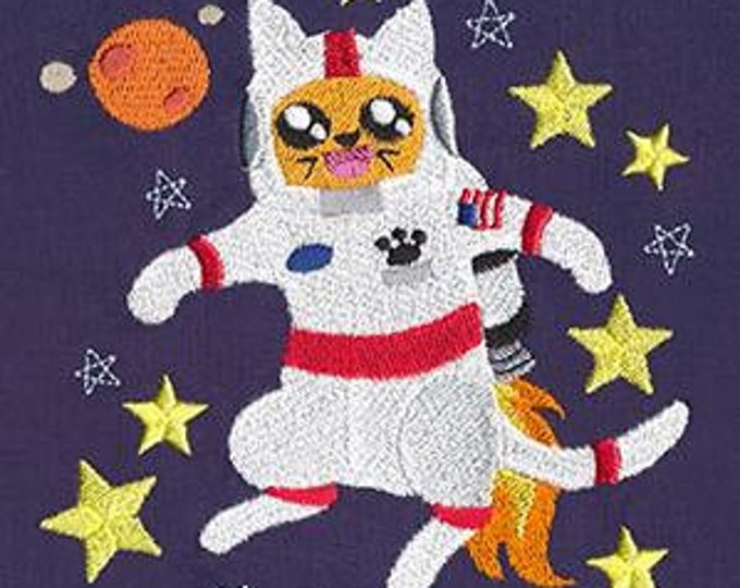 Space Astronaut Cat Dice Bag or Pouch