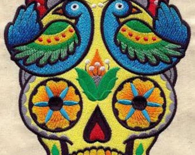 Dia de los Muertos Day of the Dead Skull Birds Dice Bag or Pouch
