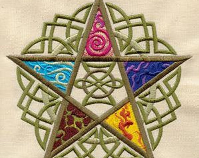 Irish Celtic Five Elements Pagan Dice Bag or Pouch