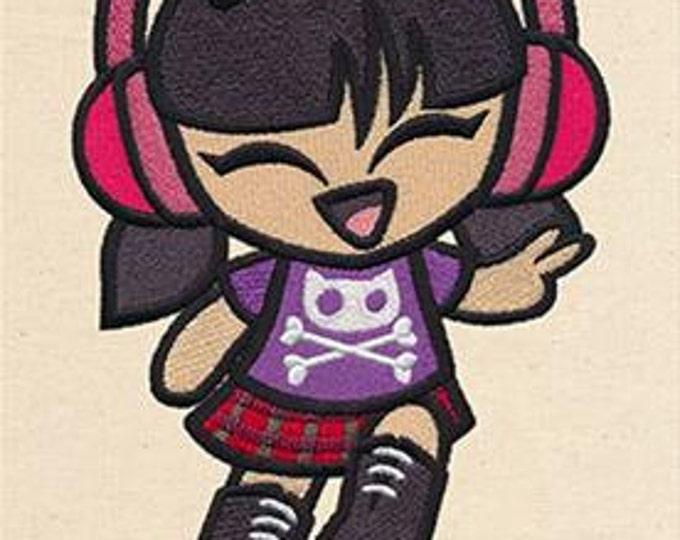 Cute Punk Princess  Kawaii Mythology Dice Bag or Pouch