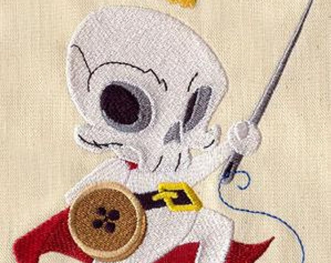 Skeleton Sewing Thumble Knight Warrior Sword Dice Bag or Pouch