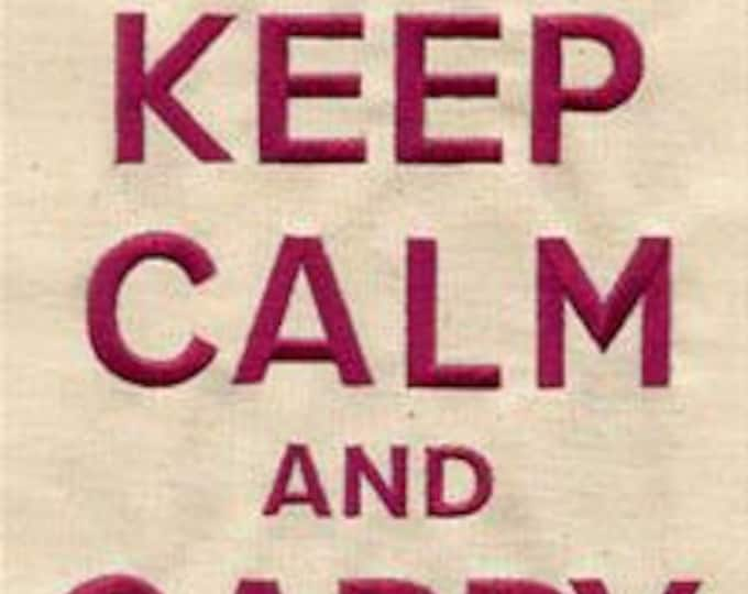 Keep Calm and Carry Yarn Knitting Crocheting  Dice Bag or Pouch