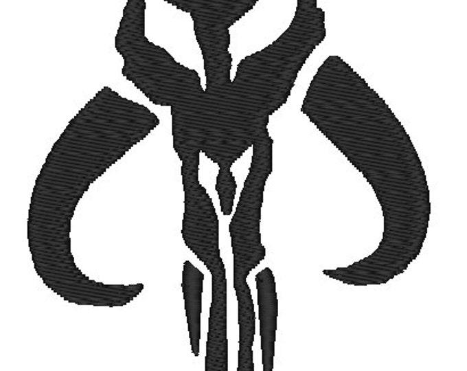 Mandalorian Skull Boba Fett Star Wars Dice Bag or Pouch