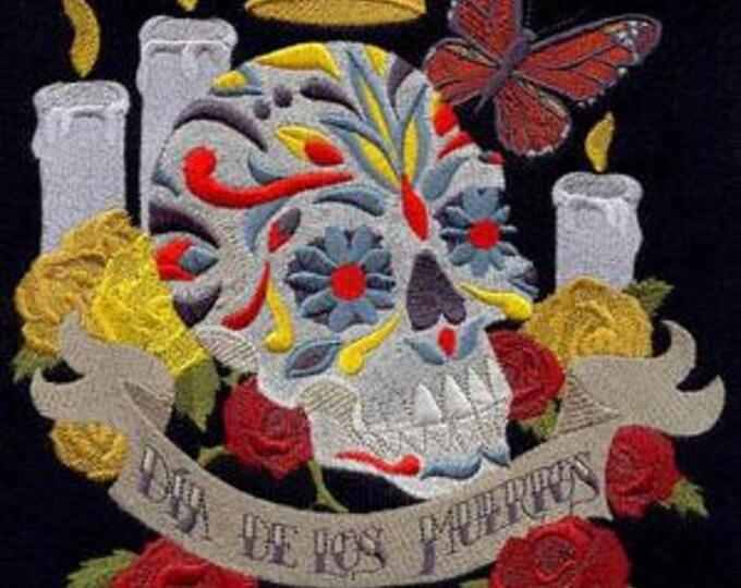 Dia de los Muertos Day of the Dead Skull Roses Vanitas Dice Bag or Pouch