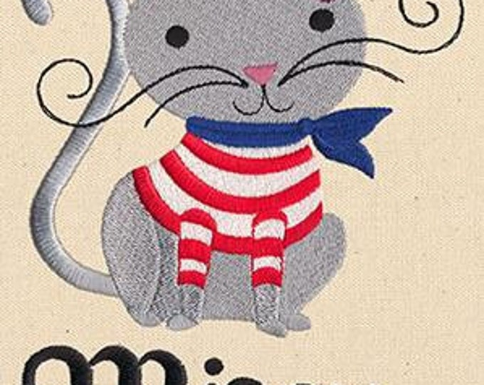 French Miaou Beret Meow Cat Dice Bag or Pouch
