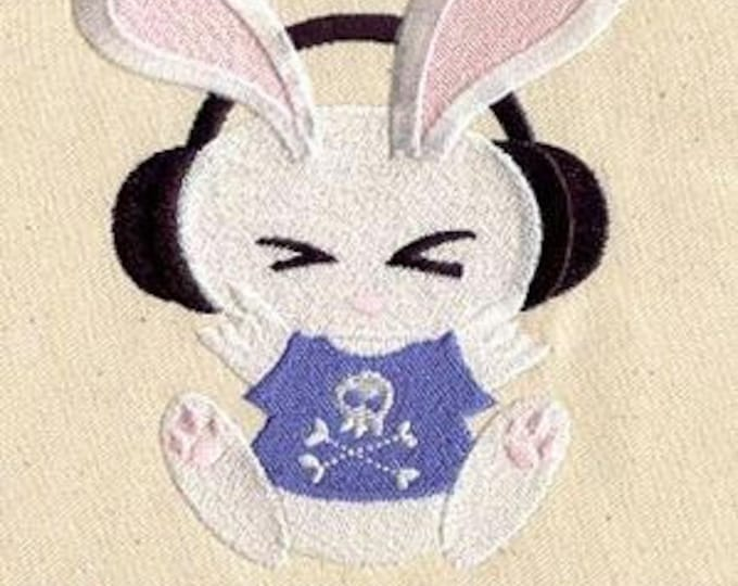 Hardcore Bunny Headphones Punk Music Dice Bag or Pouch