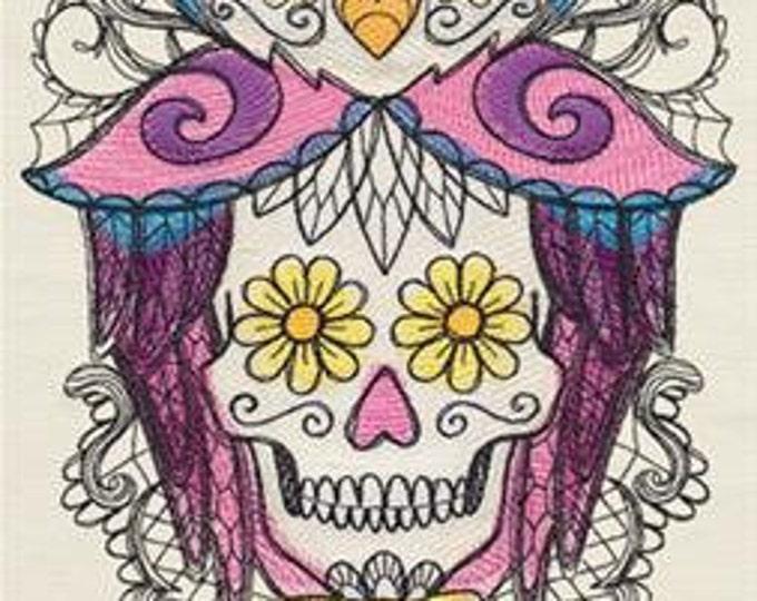 Dia de los Muertos Day of the Dead Skull Owl Skeleton Dice Bag or Pouch