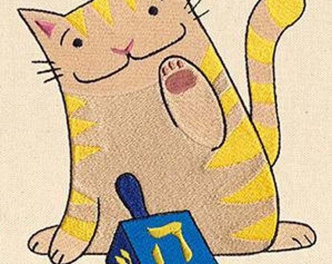Dreidel  Cat Dice Bag or Pouch