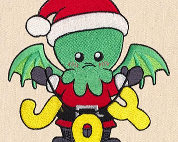 Cthulhu Christmas Joy Lovecraft Kawaii Dicebag Dice Gaming
