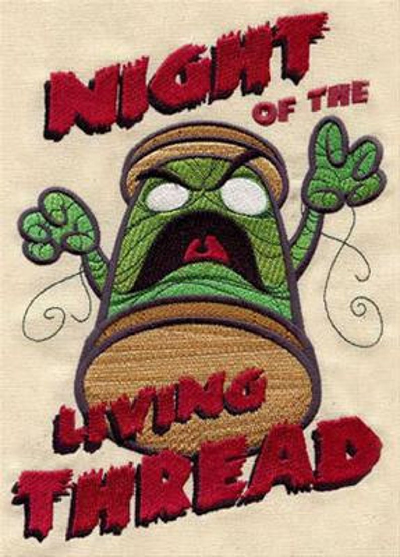 Night of the Living Thread Zombie Spool Dice Bag or Pouch