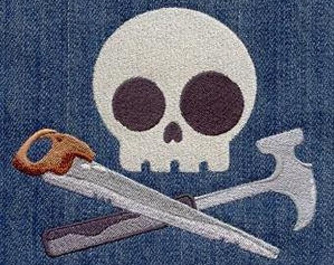 Skully Skull Carpentry Carpenter Dice Bag Dicebag or Pouch