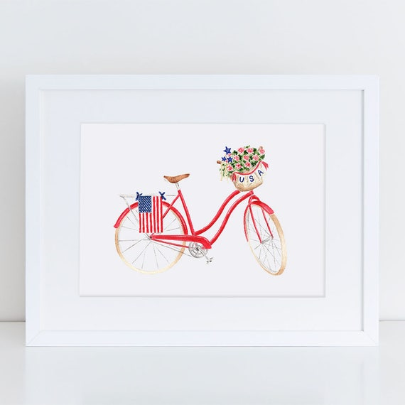 Red,White Blue Patriotic Bike Streamers Bicycle Decoration Your Choice