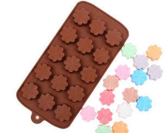 Flower Silicone Chocolate Mold - JSC195 - Baking Fondant Candy Royal Icing Ice Soap