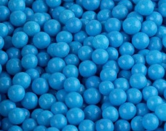 Edible Blue Sugar Pearl Candies - 4mm