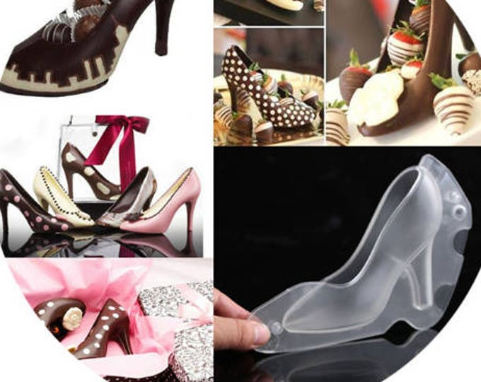 Pump Heel Shoes Chocolate Mold Set - Baking Fondant Soap Chocolate Candy Jelly Bridal Shower Bacherlorette