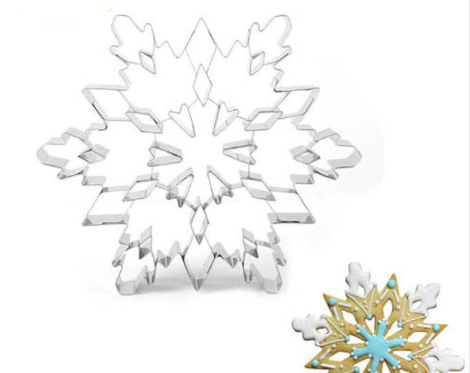 "Extra Large 7.5"" Snowflake Cookie Cutter - Party Biscuit Fondant Sugar Cutter Snow Winter Holiday"