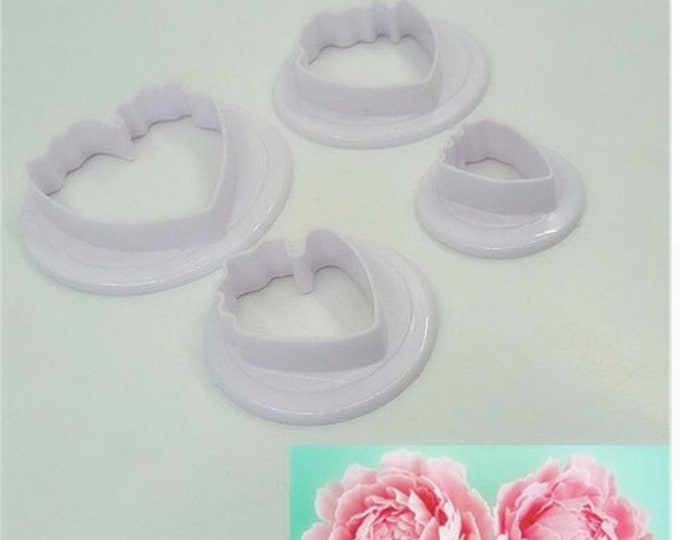 4 pc Small Peony Flower Cookie Cutter Set - SLH536 Party Biscuit Fondant Sugar Cutter