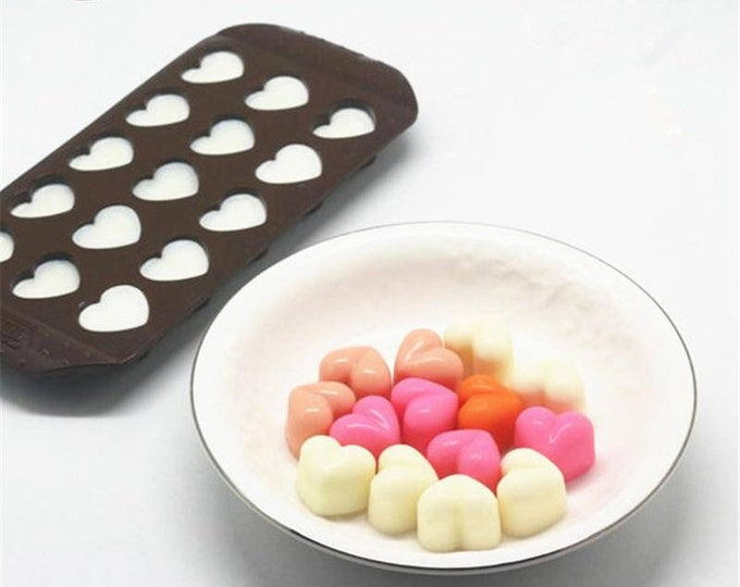 Heart Silicone Mold C1019 Love 3D Jello Jelly Baking Fondant Candy Royal Icing Soap Chocolate