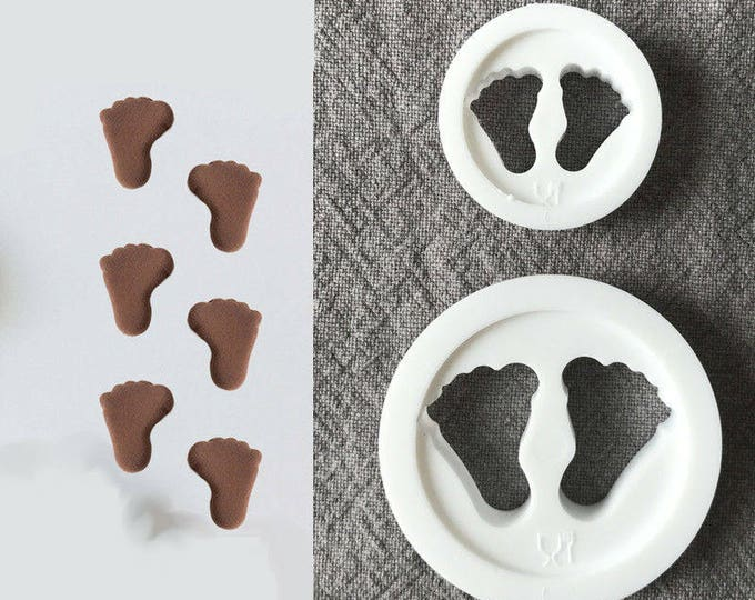 2 pc Baby Feet Cookie Cutter Mold Set - SLH533 Flower Candy Fondant Cutter