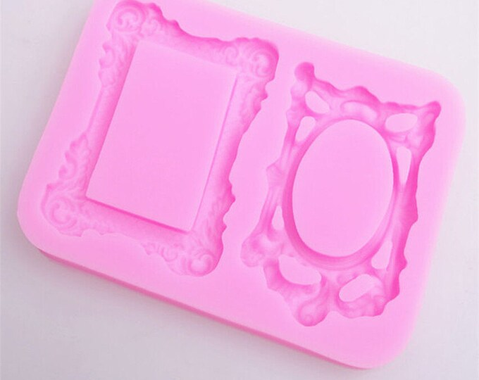 Mirror Frame Silicone Mold - M-0771 -  Baking Fondant Candy Royal Icing