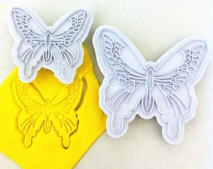 2 pc Cookie Cutter Mold Set - 04074 - Snowflake Snow Frozen Elsa Snowflakes Winter Candy Fondant Cutter