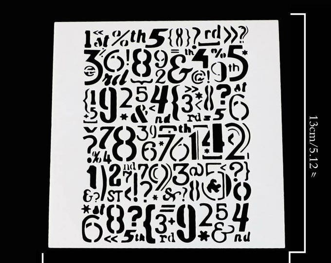 Numbers Cake Stencil Set - 53054 Numerical First Birthday