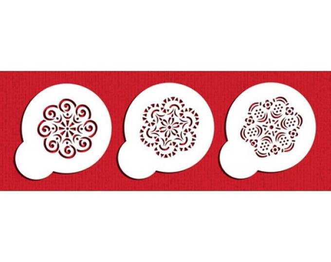 Mini Crochet Stencil Set - ST-628 - Cookies, Cupcakes & Cakes Design Decorations