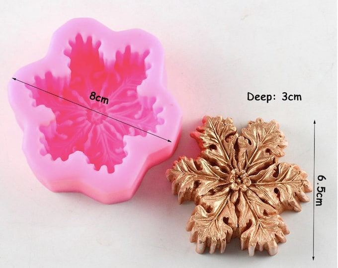 Snowflake Silicone Mold - CE057 - Baking Fondant Happy Birthday Party Wedding Cake Bridal Winter Holiday Snow