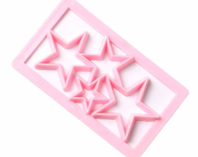 Star Geometric Shape Cutter - P102 - Banner Streamer Mold Party Biscuit Gumpaste Fondant Sugarcraft Sugar Cutter Stars Hearts Shine