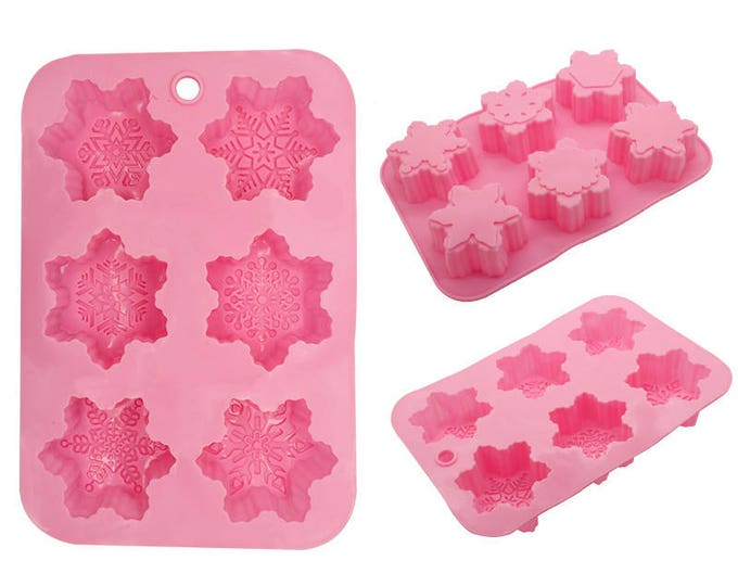 Snowflake Silicone  Mold - L1733 Baking Fondant Candy Royal Icing Ice Soap